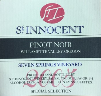 2005 Pinot Noir Seven Springs Vineyard Special Selection 1.5L