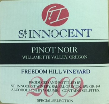 2009 Pinot Noir Freedom Hill Vineyard Special Selection