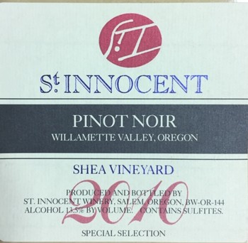 2010 Pinot Noir Shea Vineyard Special Selection
