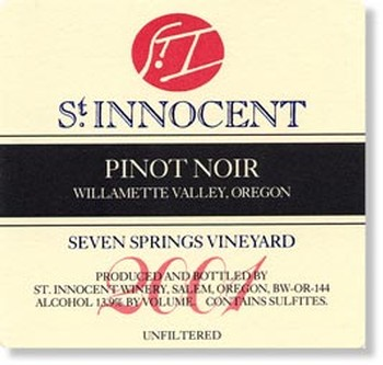 2001 Pinot Noir Seven Springs Vineyard 3L
