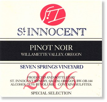 2006 Pinot Noir Seven Springs Vineyard Special Selection