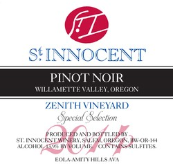 2014 Pinot Noir Zenith Vineyard Special Selection 3L